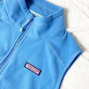 Vineyard Vines Fleece Full Zip Vest Blue Whale